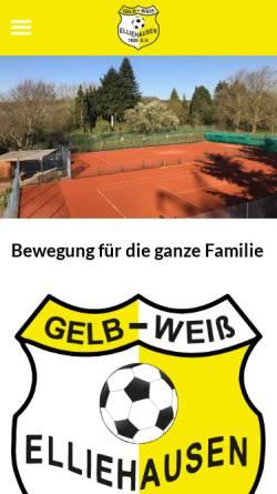 Vorschau der mobilen Webseite www.gw-elliehausen.de, Elliehausen und Esebeck