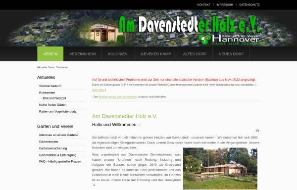 Vorschau von am-davenstedter-holz.de, Kleingärtnerverein Am Davenstedter Holz e.V.