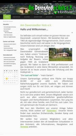 Vorschau der mobilen Webseite am-davenstedter-holz.de, Kleingärtnerverein Am Davenstedter Holz e.V.