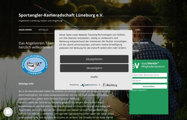 Vorschau von www.sakl.de, Angelvereins Sportangler - Kameradschaft Lüneburg e.V.