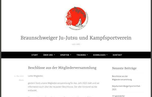 Vorschau von www.bjjk.de, Braunschweiger Ju-Jutsu und Kampfsportverein e.V.
