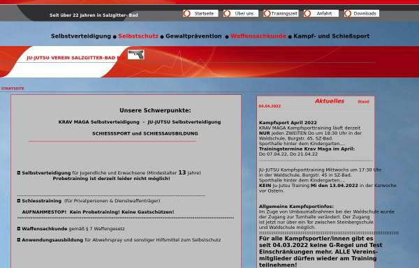 Vorschau von www.ju-jutsu-verein-salzgitter-bad.de, Ju-Jutsu Verein Salzgitter Bad