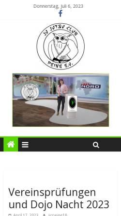 Vorschau der mobilen Webseite www.jjcpeine.de, Ju-Jutsu-Club Peine e.V.