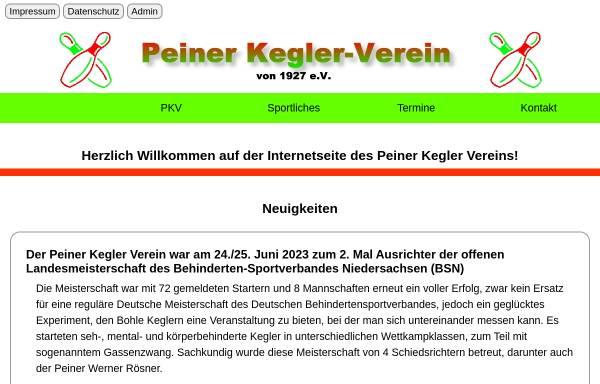 Vorschau von www.peiner-kegler-verein.de, Peiner Kegler Verein von 1927 e.V.