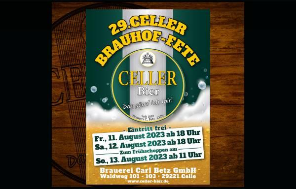 Vorschau von www.celler-bier.de, Brauerei Carl Betz GmbH