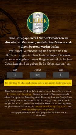 Vorschau der mobilen Webseite www.celler-bier.de, Brauerei Carl Betz GmbH