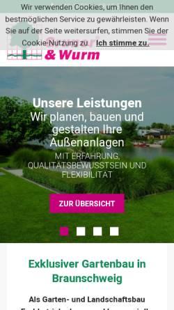 Vorschau der mobilen Webseite www.gruner-wurm.de, Gruner & Wurm GmbH & Co. KG