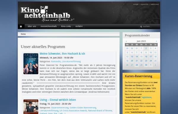 Vorschau von www.kino-achteinhalb.de, Kino achteinhalb, Kino und Kultur e.V.