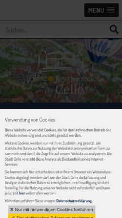 Vorschau der mobilen Webseite www.celle.de, Stadt Celle