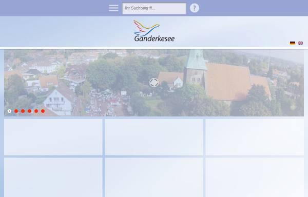 Vorschau von www.gemeindeganderkesee.de, Gemeinde Ganderkesee