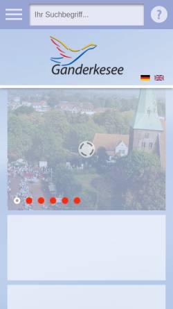 Vorschau der mobilen Webseite www.gemeindeganderkesee.de, Gemeinde Ganderkesee