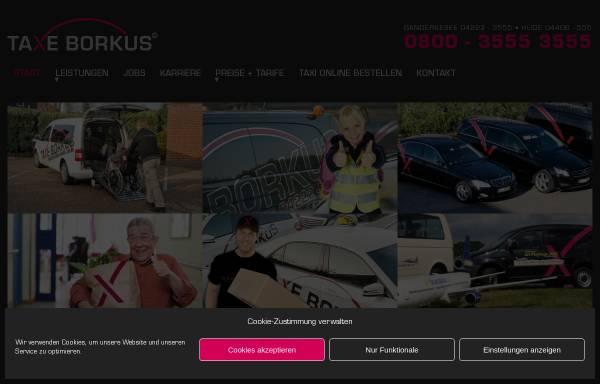 Vorschau von www.taxe-borkus.de, Taxi Borkus