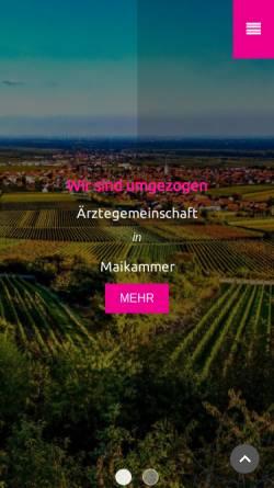 Vorschau der mobilen Webseite www.mai-med.de, Ärztegemeinschaft in Maikammer