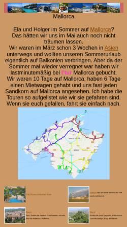 Vorschau der mobilen Webseite www.arizonas-world.de, Mietwagentouren auf Mallorca [Holger Quast]