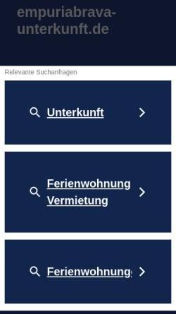 Vorschau der mobilen Webseite www.empuriabrava-unterkunft.de, Empuriabrava Ferienhaus