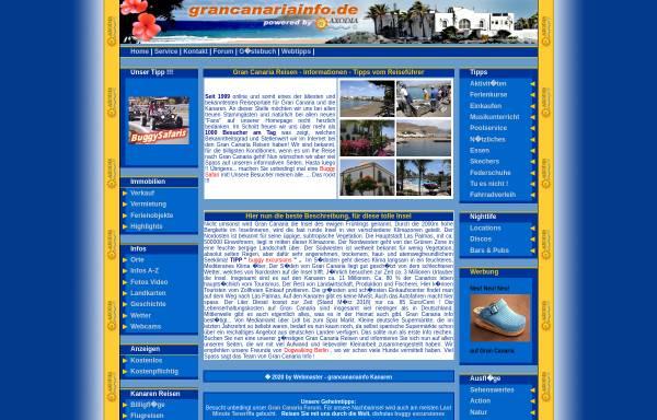 Vorschau von www.grancanariainfo.de, Grancanariainfo - Axodia-Reisen