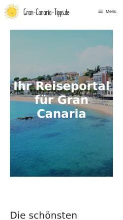 Vorschau der mobilen Webseite www.gran-canaria-tipps.de, Gran Canaria Tipps