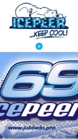 Vorschau der mobilen Webseite www.icepeer.com, Icepeer S.C.P.