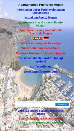 Vorschau der mobilen Webseite www.apartamentosmogan.com, Appartements in Puerto Mogan