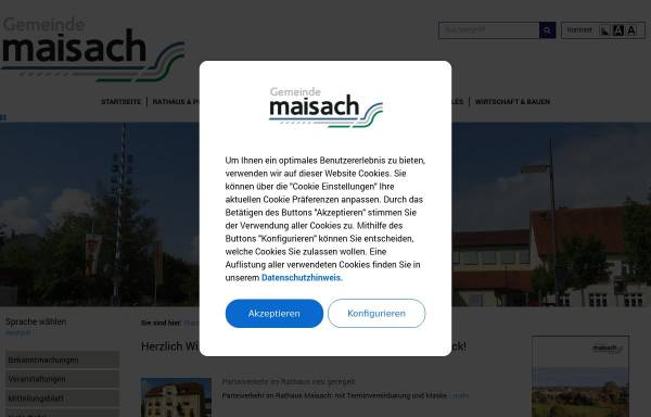 Vorschau von maisach.com, Gemeinde Maisach