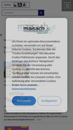 Vorschau der mobilen Webseite maisach.com, Gemeinde Maisach