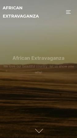 Vorschau der mobilen Webseite www.african-extravaganza.com, African Extravaganza