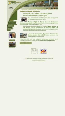 Vorschau der mobilen Webseite www.pleasureflights.com.na, Pleasure Flights & Safaris