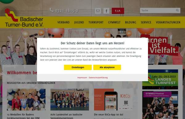 Vorschau von www.badischer-turner-bund.de, Badischer Turner-Bund