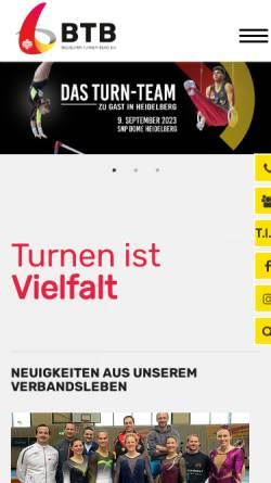 Vorschau der mobilen Webseite www.badischer-turner-bund.de, Badischer Turner-Bund