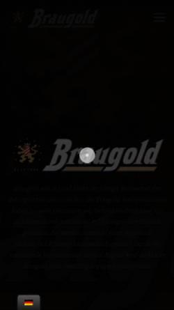 Vorschau der mobilen Webseite www.braugold.de, Braugold Brauerei Riebeck GmbH & Co. KG