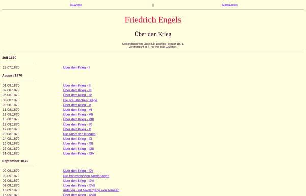 Vorschau von www.mlwerke.de, Friedrich Engels: Über den Krieg