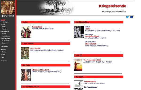 Vorschau von www.kriegsreisende.de, Kriegsreisende