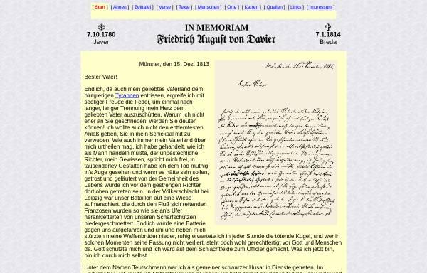 Vorschau von www.davier.de, Friedrich August von Davier (1780-1814)