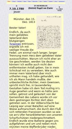 Vorschau der mobilen Webseite www.davier.de, Friedrich August von Davier (1780-1814)