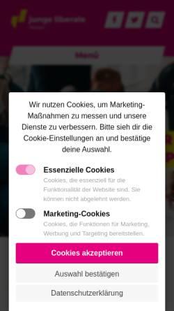 Vorschau der mobilen Webseite www.junge-liberale.de, JuLis - Junge Liberale Hessen