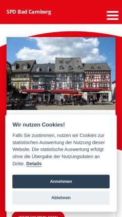 Vorschau der mobilen Webseite www.spd-bad-camberg.de, SPD-Ortsverein Bad Camberg