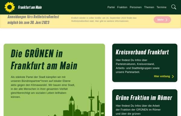Vorschau von www.gruene-frankfurt.de, Bündnis 90/Die Grünen Frankfurt am Main