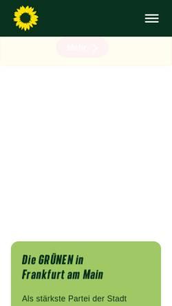 Vorschau der mobilen Webseite www.gruene-frankfurt.de, Bündnis 90/Die Grünen Frankfurt am Main