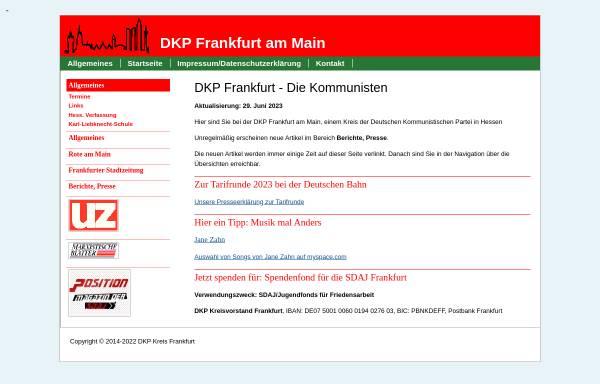 Vorschau von www.dkp-frankfurt.de, DKP Frankfurt am Main