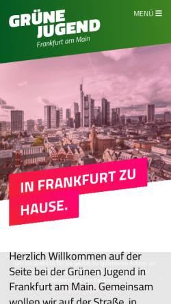 Vorschau der mobilen Webseite www.gruene-jugend-frankfurt.de, Grüne Jugend Frankfurt