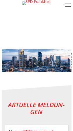 Vorschau der mobilen Webseite www.spd-frankfurt.de, SPD Frankfurt am Main