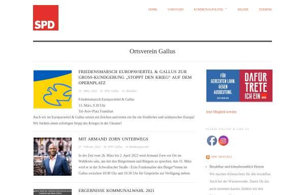 Vorschau von spd-gallus.de, SPD-Ortsverein Gallus