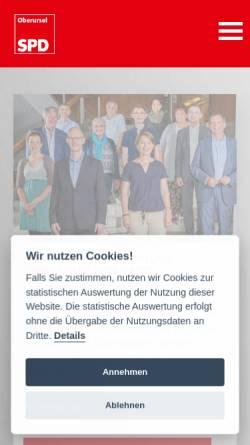 Vorschau der mobilen Webseite spd-oberursel.de, SPD Oberursel