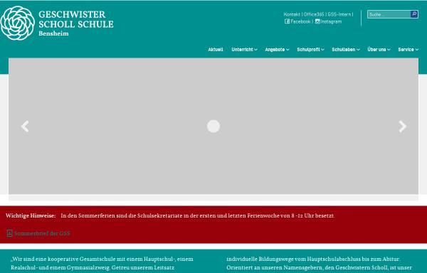 Vorschau von www.gss-bensheim.de, Geschwister-Scholl-Schule