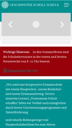 Vorschau der mobilen Webseite www.gss-bensheim.de, Geschwister-Scholl-Schule