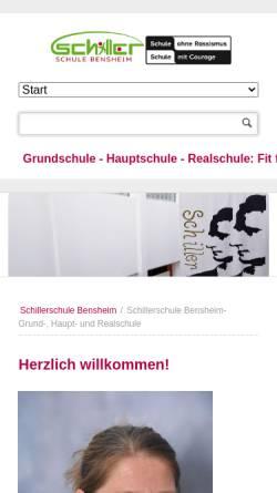 Vorschau der mobilen Webseite www.schillerschule-bensheim.de, Schillerschule