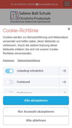 Vorschau der mobilen Webseite www.fcsd.de, Freie Christliche Schule Darmstadt