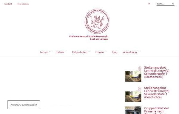 Vorschau von www.montessori-darmstadt.de, Freie Montessori Schule Darmstadt