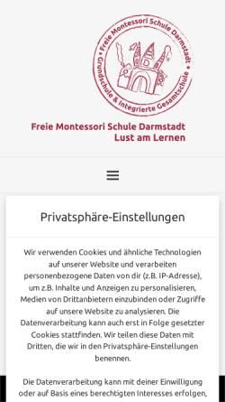 Vorschau der mobilen Webseite www.montessori-darmstadt.de, Freie Montessori Schule Darmstadt