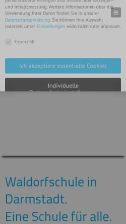 Vorschau der mobilen Webseite www.waldorfschule-darmstadt.de, Freie Waldorfschule Darmstadt